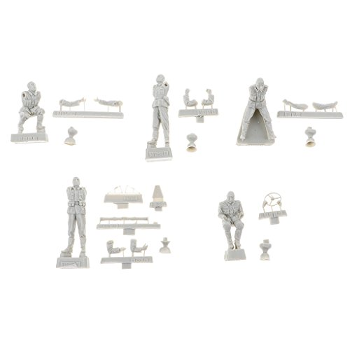 KESOTO 1/35 Figura De Resina Kit De Modelo WWII Figuras De Bombardeo Panzer Alemanas Unasambled