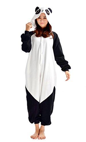 YARBAR Tier Onesies Karneval Halloween Kostüm Nachtwäsche Cosplay Pyjama Erwachsene Unisex Kigurumi Jumpsuit Weiß (Sexy Hamster Kostüme)