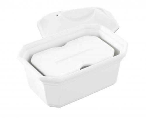 REVOL Terrine Foie Gras 600gr rectangulaire porcelaine blanche + Presse