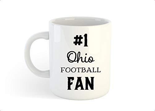 Ohio Football Fan Mug, 1 Ohio Fan, Ohio Football Gift, Ohio Football, Football Coffee Mug - 11 OZ Coffee Mugs