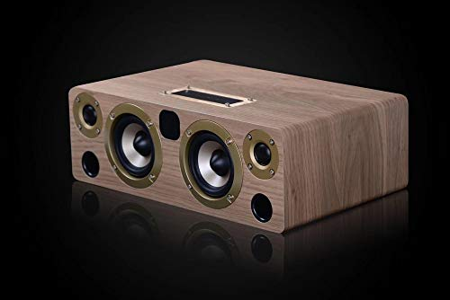 ERKEJI Altavoz Bluetooth Home Audio Madera HiFi 60W Alta Potencia de Audio...