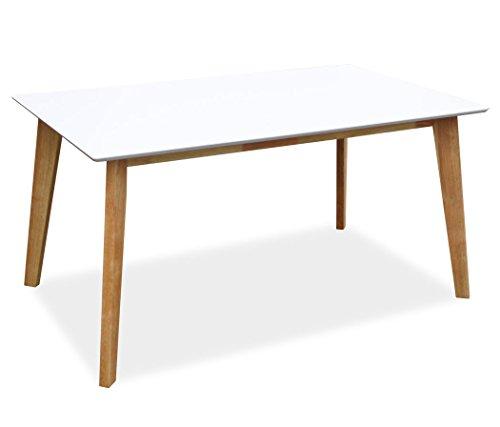KMH®, Rechteckiger Esszimmertisch Jutta (150 x 90 cm) Weiss (#201202) -