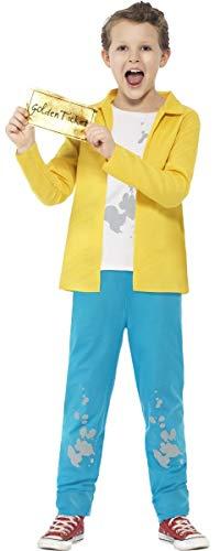 Chocolate Kostüm Charlie Factory - Jungen Kostüm Roald Dahl Charlie & The Chocolate Factory Charakter - Mehrfarbig, EU 122/134