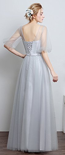 Eyekepper Robe de soiree longue Robe Femme / demoiselle robes elegant robe nuptiale femmes elegante robe gris A style