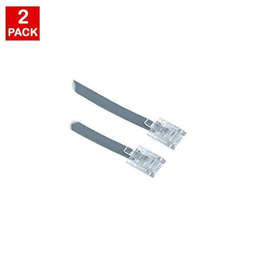 5ft Uns Allgemeine Telefon Line Kabel (Grau), universell Kompatibel (2Pack) Telefon Fax Modem Festnetz Us-general Jack