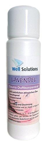 100% Reines Konzentrat (Well Solutions Sauna Aufguss Konzentrat 100 ml / aus rein ätherischen Öle / Duftrichtung Lavendel)