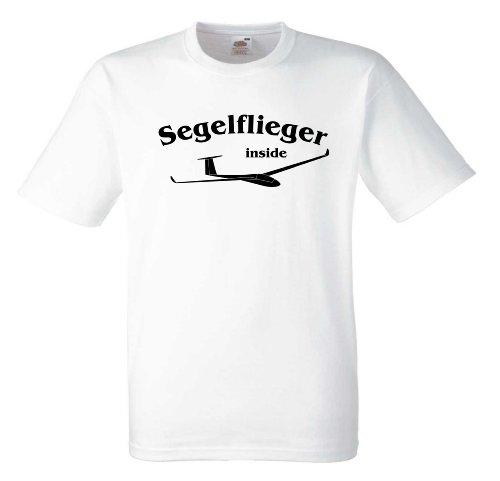 Segelflieger inside T589 Unisex T-Shirt Textilfarbe: weiß