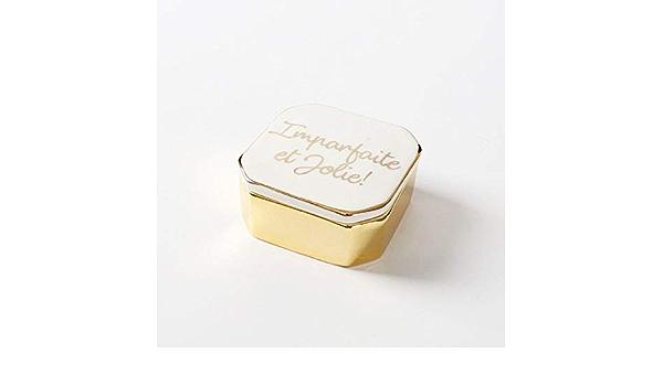 bracelets Bo/îte /à bijoux angelikashalala pour femme boucles doreilles 10 x 10 x 10 cm Petite bo/îte de rangement /à bijoux de voyage multi-couches rotative colliers Pour bagues