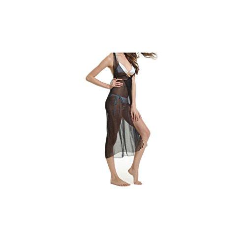 """Waooh - Fashion - Sarong Long And Transparent """"Aura"""" Schwarz"""