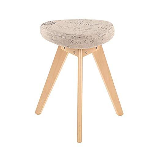 Modernes Design Akzent Stuhl Wohnzimmer-kreativer Schemel-Gewebe-Schemel-Schemel-Mode-Kaffee-Tabellen-Schemel einfaches festes Holz-Dreieck-Speisen-Schemel-Schemel-Schemel, der Schemel - Birke kleidet (Akzent-stuhl-tabellen)