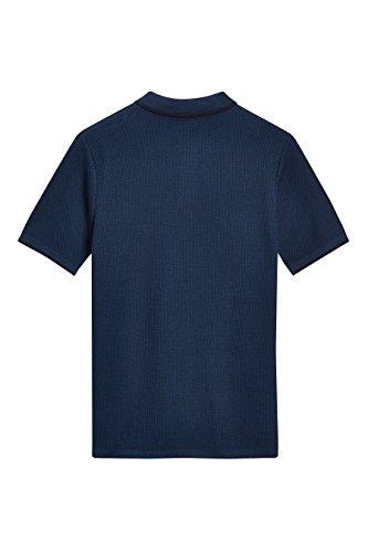 next Herren Poloshirt mit Kantendetails Regular Blau