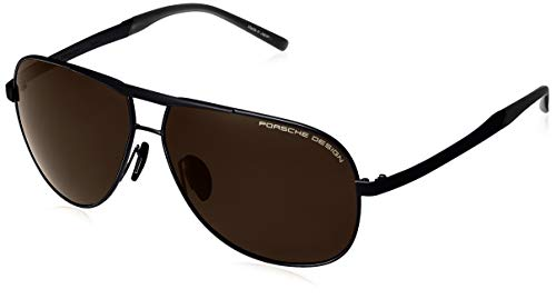 Porsche design occhiali da sole p'8657 black/brown uomo