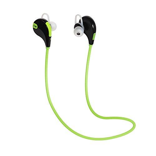 Smartex | auricolare bluetooth 4.1 verde headset stereo per sport, earphone bluetooth cuffie wireless con microfono per dispostivi con bluetooth versione 4.1