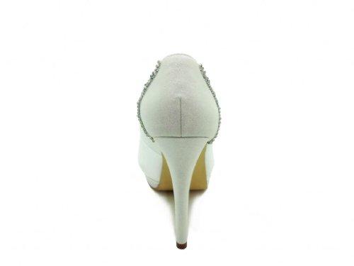 Jia Jia Wedding 4099 Chaussures De Mariée Blanc Femme Talons