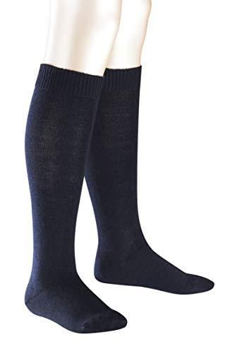 FALKE Kinder Comfort Wool K KH Kniestrümpfe, Blau (Darkmarine 6170), 27-30