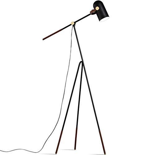 *Stehlampe Stehlampe, Stativ LED verstellbare Stehlampe, geeignet zum Lesen von langarmigen Angelscheinwerfern im Wohnzimmer und Schlafzimmer Stehlampe gewölbt (Color : Yellow light)