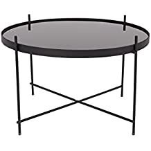 Zuiver Cupid mesa baja cristal, color Negro, talla L, 62,5x62,5x40 cm