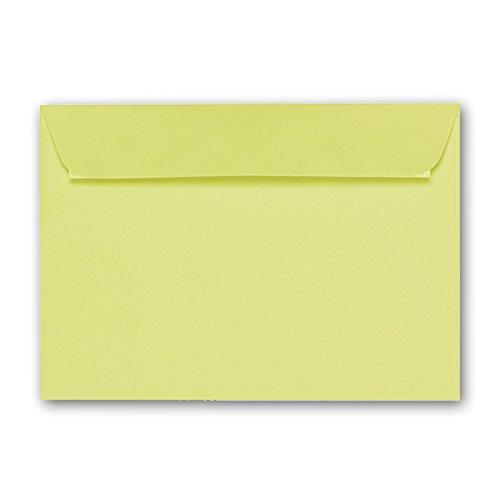 ARTOZ 25x Briefumschläge DIN C6 Kirschblüte I 16,2 x 11,4 cm Kuvert ohne Fenster I Umschläge selbstklebend haftklebend I Serie Artoz 1001 (Altmodische Zitrone)