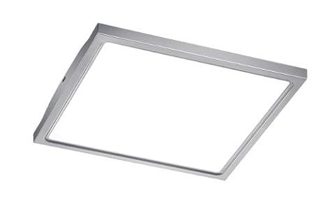 LED-Deckenaufbauchleuchte in Edelstahl, inkl. 12W LED 840 Lumen 3500 Kelvin, 30x30cm, Höhe 4cm