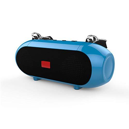 JINRU Wireless Bluetooth Portable Lautsprecher Mit HD Sound Und Bass, Wasserdicht, Anti-Fallen, Staubdicht, Freisprechen, Geschenk Schultergurt (Schwarz),Blue