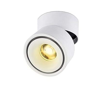 LANBOS LED Deckenaufbaustrahler/10W COB Lampe/3000K Warmweiß/10*10CM/Aufbauleuchte/Falten Drehen Aufputz Deckenleuchte/Aluminium von LANBOS auf Lampenhans.de