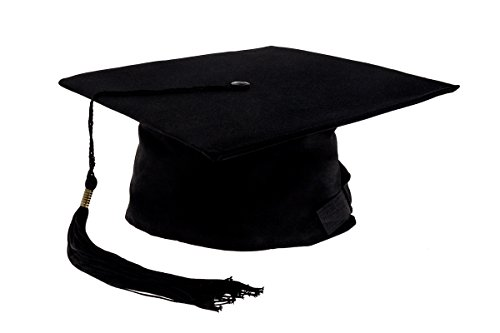 Smartfox Doktorhut,Graduation in Schwarz Kopfumfang ca. 52-60cm, 1 Stück -