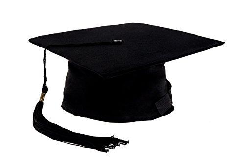 examen hut Smartfox Doktorhut,Graduation in Schwarz Kopfumfang ca. 52-60cm, 1 Stück