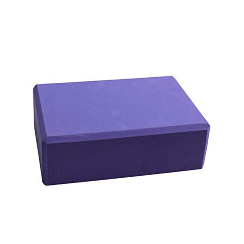 Haute Densité 200g Yoga Brique Mousse Oreiller Danse Outil Débutant Pression Jambe Brique (Color : Purple)