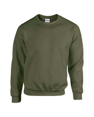 Heavy Blend Crewneck Sweatshirt - Farbe: Military Green - Größe: S (Crewneck Pullover Blend)