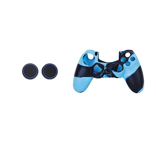 Segolike Blue Protective Case Joystick Cover Caps Grips for PS4 Game Console  available at amazon for Rs.250