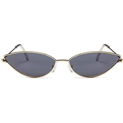 ZHAS High-End-Brille kleine Sonnenbrille Frauen der 90er Jahre Vintage Spiegel Sonnenbrille Damen Metall Brillen Shades für Männer personalisierte High-End-Sonnenbrille schwarz