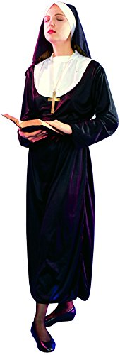 Fiori Paolo 62005 - Suora Costume Donna Adulto, Nero, Taglia 40-42