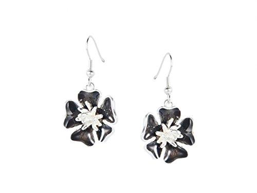 fleur-boucles-doreilles-en-email-noir