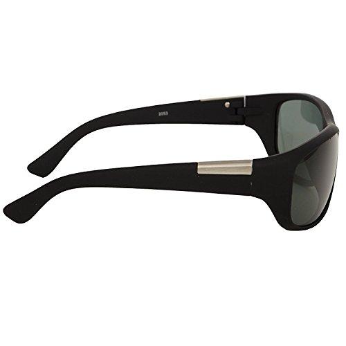 Silver Kartz Best Quality Matte Wrap Around Unisex Sunglasses(Wy-198|65|Green)