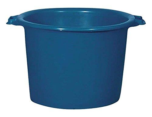 Aluminium et Plastique RIVBQRD55 Baquet Rond Plastique Bleu 55 L