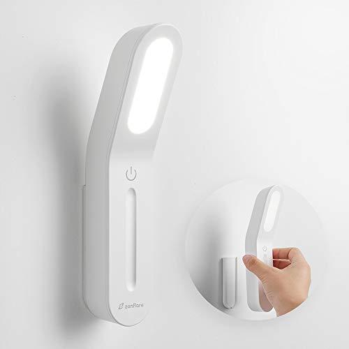 Zanflare Luz LED portátil para gabinete 16LED 6000K, Luz Recargable con USB Luz táctil para encender/apagar Luz nocturna para lectura, escritura, cocina, armario, escaleras, cajón, Etc.