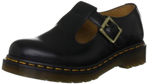 Dr. Martens - Polley, mary Jane  da donna, Nero(Black), 37