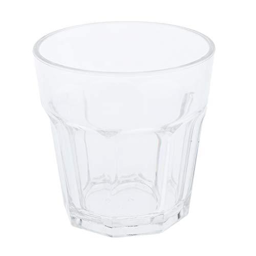 KESOTO Premium Acrylbecher Acryl Kunststoff Wasser Bier Whiskey Wein Saft Becher, Spülmaschinenfest - klar 210ml