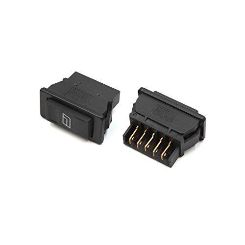 Preisvergleich Produktbild DealMux 2ST Universal Black 5 Pins Momentary elektrische Schalter für Fensterheber für Auto Auto