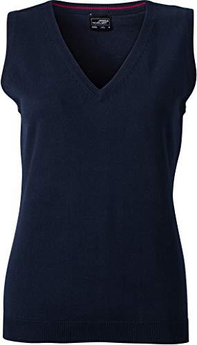 Klassischer Damen-Baumwoll-Pullunder im digatex-package M,Navy