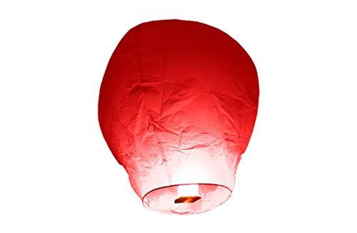 TellementHappyTM Lanterne chinoise volante Rouge100% biodégradable qualité supérieure en papier Le Lampion mesure 90cm*60cm idéal pour vos événements mariage fêtes nouvel an lot de 10