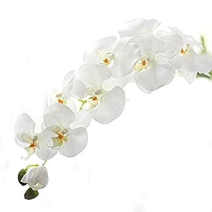 Meiliy- Orquídea mariposa artificial, flor artificial, decoración del hogar