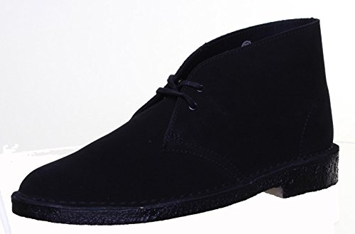 Clarks Originals Desert Boot pour femme en daim Bottes en cuir Black FA