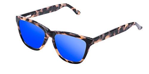 Hawkers Caramel Carey Sky One X, Gafas de Sol Unisex, Marrón/Azul