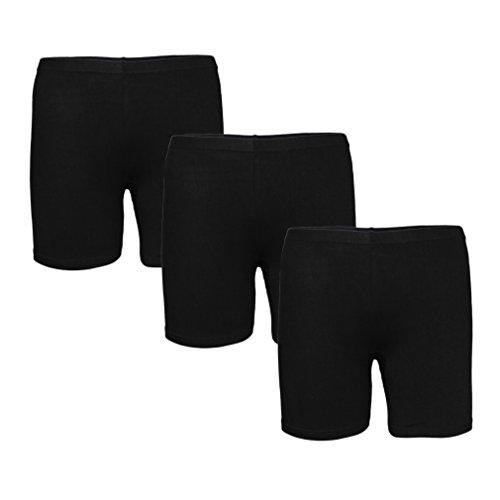 Bike-shorts Frauen Yoga (2er/3er Pack Damen Panties Spitzenhöschen Baumwolle Unsichtbare Slips Boxershorts Unterhosen Unterwäsche mit zufällige und kostenlos Wäschebeutel)