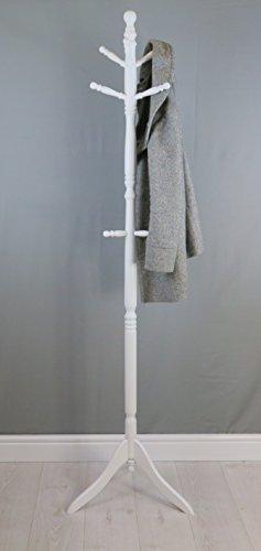 Haken Holz-finish (ASPECT Cleo Kleiderständer, Holz, mit 9Haken Weiß)