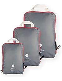 NORDKAMM Organizadores para maletas de compresión, M (mediana), Packing Cube, Organizador maleta, Organizador de equipaje, Bolsas de compresión de equipaje, Organizadores de viaje, ligera