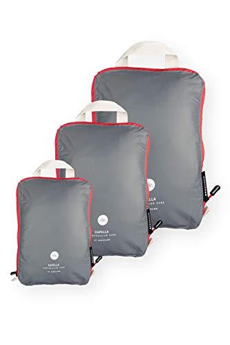 NORDKAMM Packtaschen L mit Kompression, Koffer-Organizer, Packwürfel, Kleidertasche, einzeln od. im...