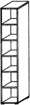 VERA Büroregal - 5 Fachböden, 400 mm breit - reinweiß - Aktenregal Büroregal Holzregal Holzregale Ordnerregal VALERIE VALERIE Büromöbelprogramm Regalwand