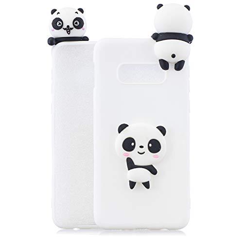 Huphant Kompatibel Mit Samsung Galaxy S10e Hülle Silikon Samsung Galaxy S10e Case Silikon Gemalt Doll Ultradünn Weiche TPU Bumper Protective Schutzhülle für Samsung Galaxy S10e -Weißer Panda